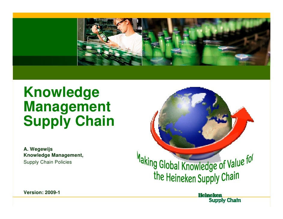 Knowledge Management Supply Chain A. Wegewijs Knowledge Management, Supply Chain Policies     Version: 2009-1