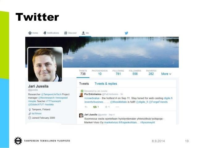 Twitter  8.9.2014 19
