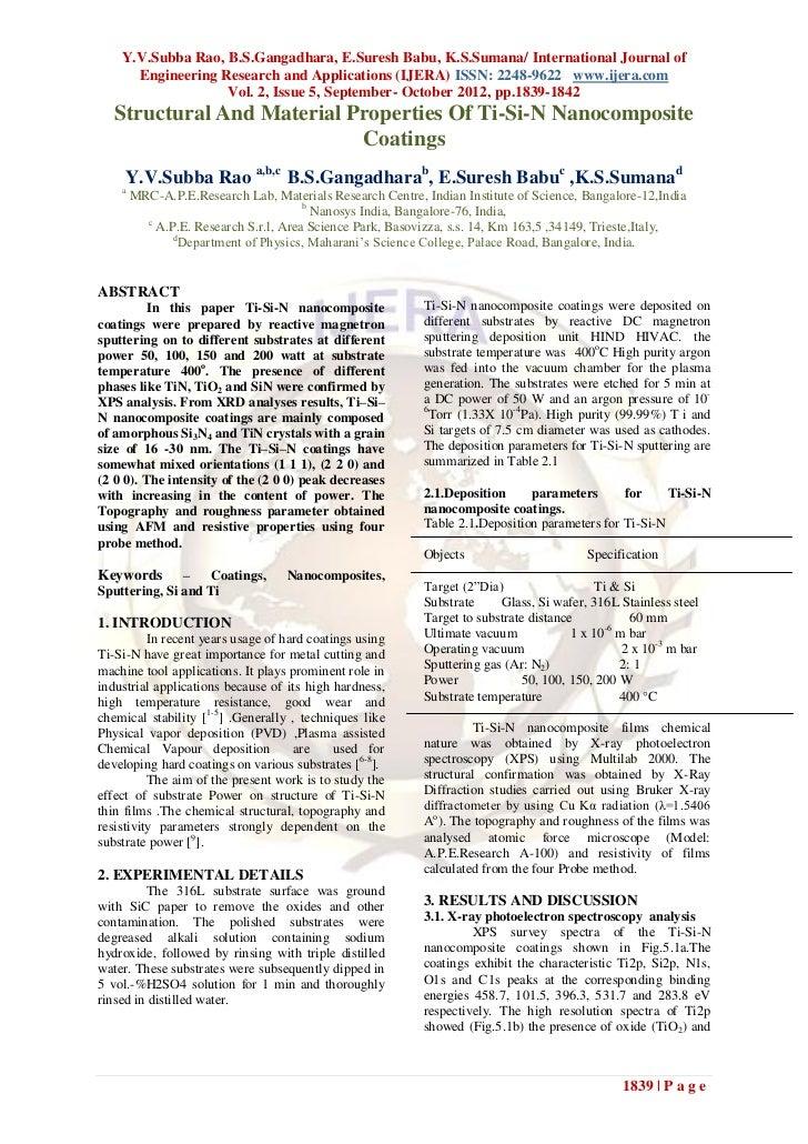 Y.V.Subba Rao, B.S.Gangadhara, E.Suresh Babu, K.S.Sumana/ International Journal of      Engineering Research and Applicati...
