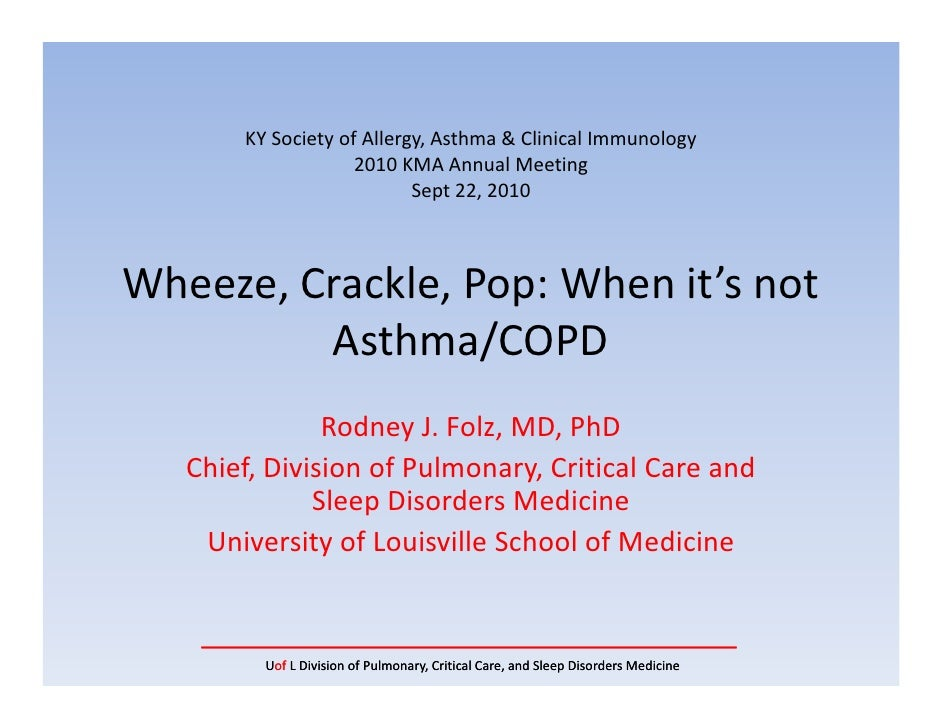 KYSocietyofAllergy,Asthma&ClinicalImmunology                    2010KMAAnnualMeeting                           S...