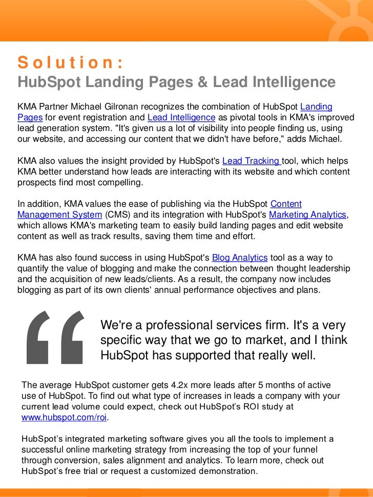 Case Study: Professional Services Company Improves Lead Capture & Nurturing With HubSpot Slide 2
