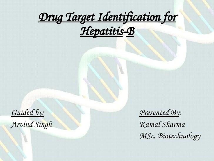 Drug Target Identification for Hepatitis - B Guided by:   Presented By :  Arvind Singh Kamal Sharma MSc. Biotechnology