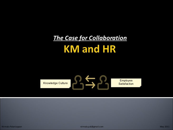 The Case for Collaboration Nirmala Palaniappan   [email_address]   May 2011 Employee Satisfaction Knowledge Culture