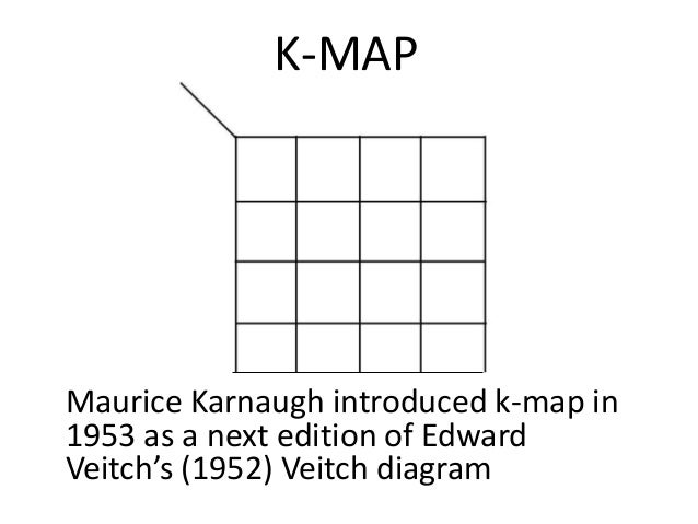 Basics of k map k map maurice karnaugh introduced k map in 1953 as a next edition of ccuart Images