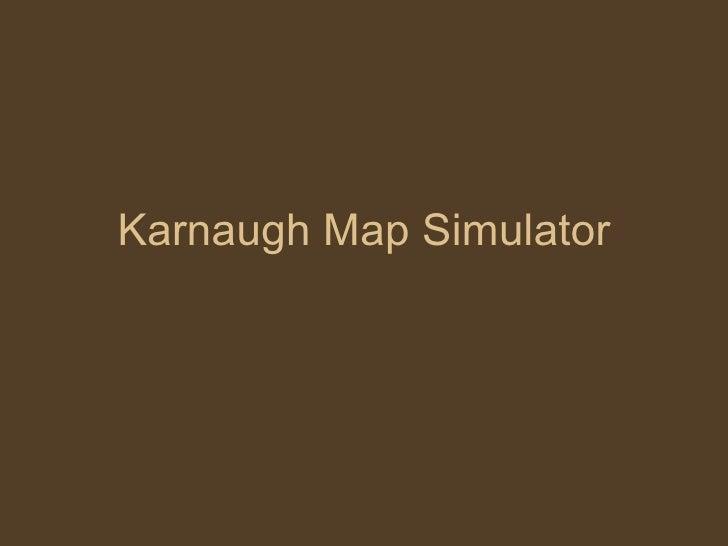 Karnaugh Map Simulator