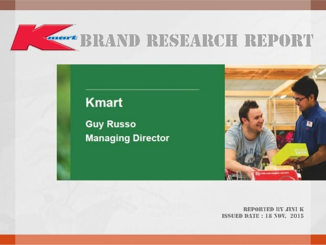 1. Company Details Kmart Australia Limited is a chain of discount stores owned by Wesfarmers. It operates 185 stores in Au...