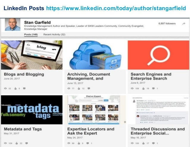 LinkedIn Posts https://www.linkedin.com/today/author/stangarfield