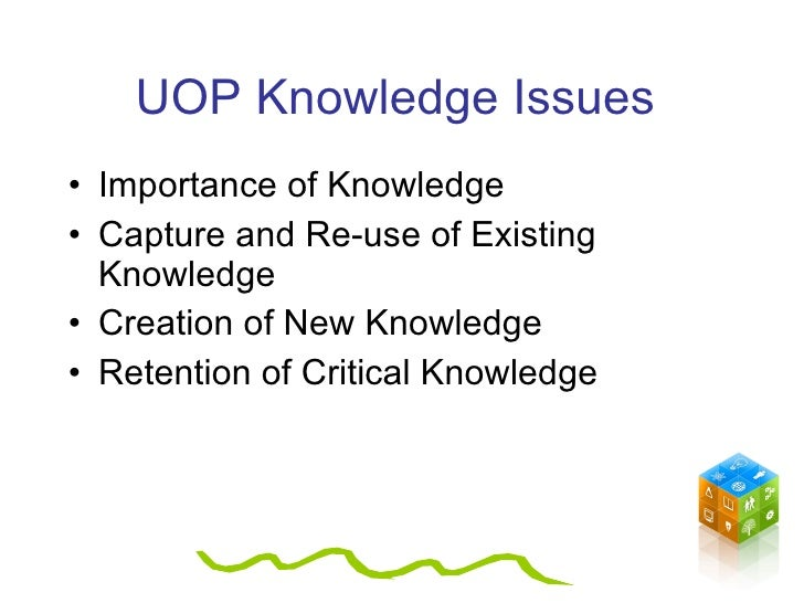 critical issues of knowledge
