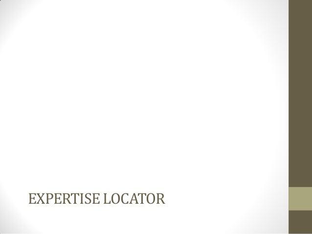 EXPERTISE LOCATOR