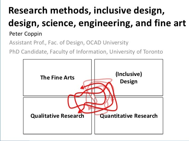 Research methods, inclusive design,Introduction  Background  design, science, engineering, and fine art      Problem      ...