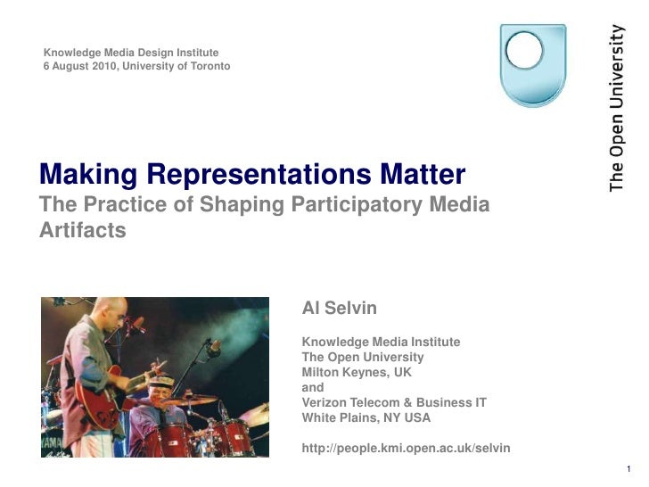 Making Representations Matter: The Practice of Shaping Participatory Media Artifacts
