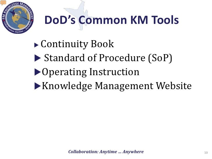 Knowledge management in the department of defense for Continuity book army template