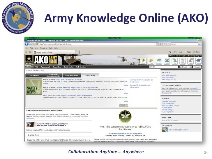 Ako army knowledge online ako login autos post for Continuity book army template