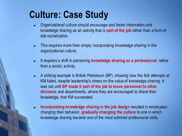 knowledge management enablers a case study Study of cultural issues in knowledge management contributes to the ability of international teams to effectively knowledge management enablers a case study essay.