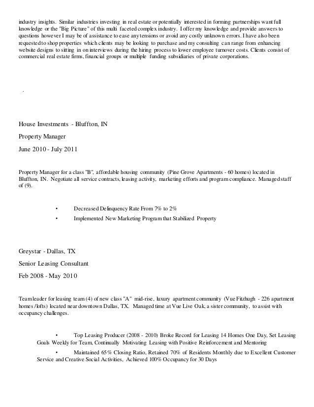 Awesome Greystar Property Management Resume Inspiration - Best ...