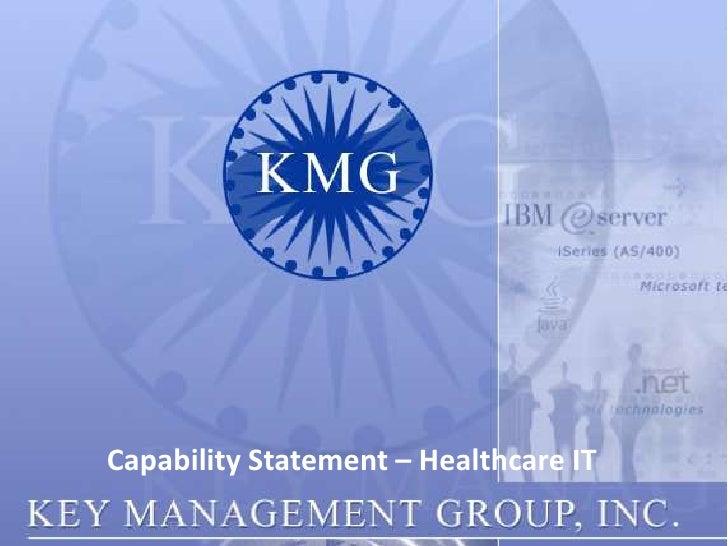Capability Statement – Healthcare IT
