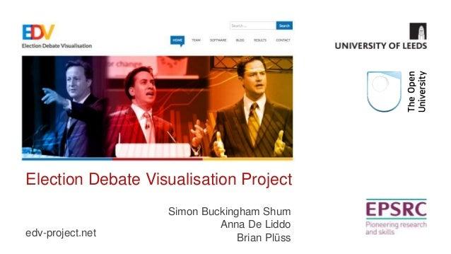 Election Debate Visualisation Project edv-project.net Simon Buckingham Shum Anna De Liddo Brian Plüss