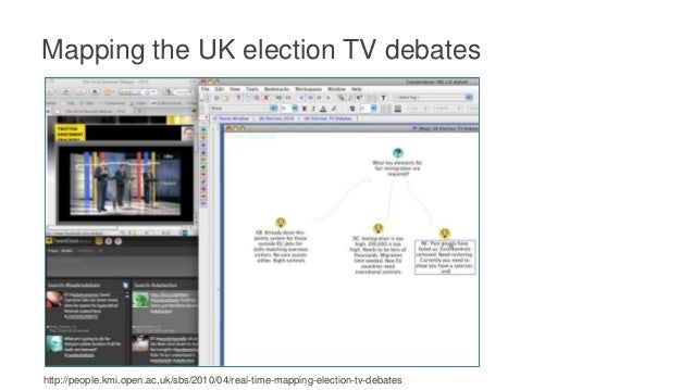 Mapping the UK election TV debates http://people.kmi.open.ac.uk/sbs/2010/04/real-time-mapping-election-tv-debates Seeing N...