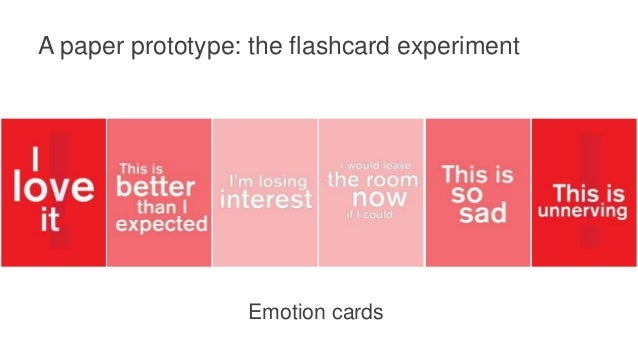 A paper prototype: the flashcard experiment Trust cards