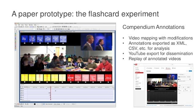 A paper prototype: the flashcard experiment Quantitative analysis: • Most/least frequently used cards • Most/least frequen...