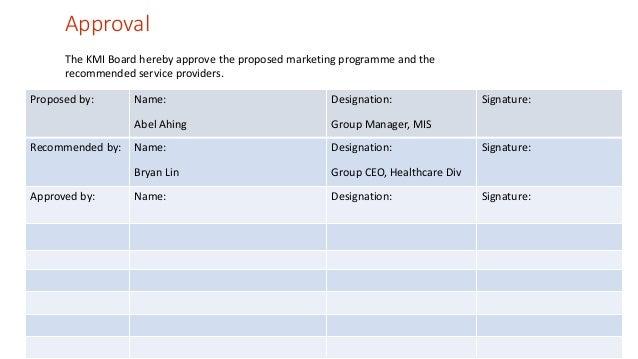 strategic marketing program  healthcare division