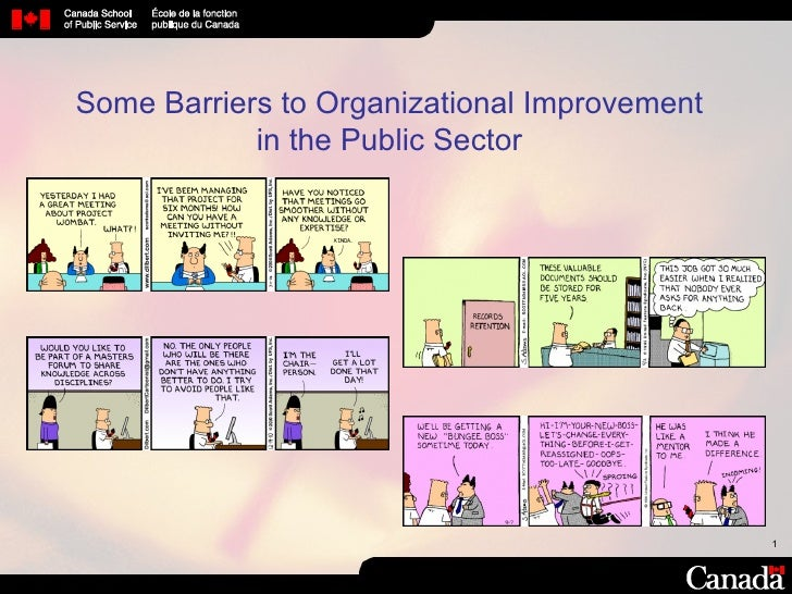 Some Barriers to Organizational Improvement in the Public Sector