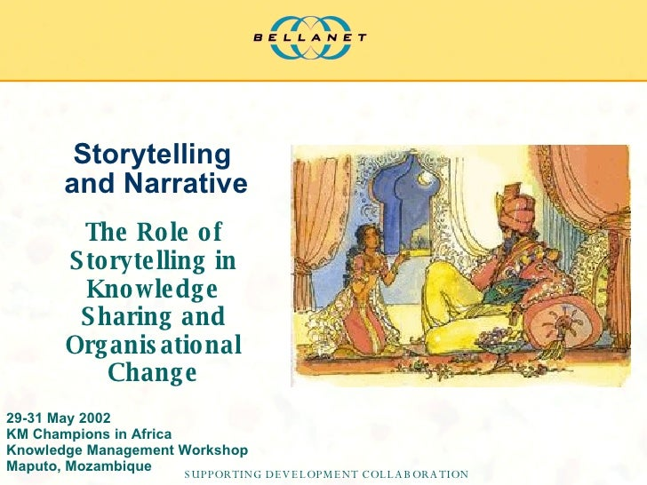 Storytelling  and Narrative The Role of Storytelling in Knowledge Sharing and Organisational Change 29-31 May 2002 KM Cham...
