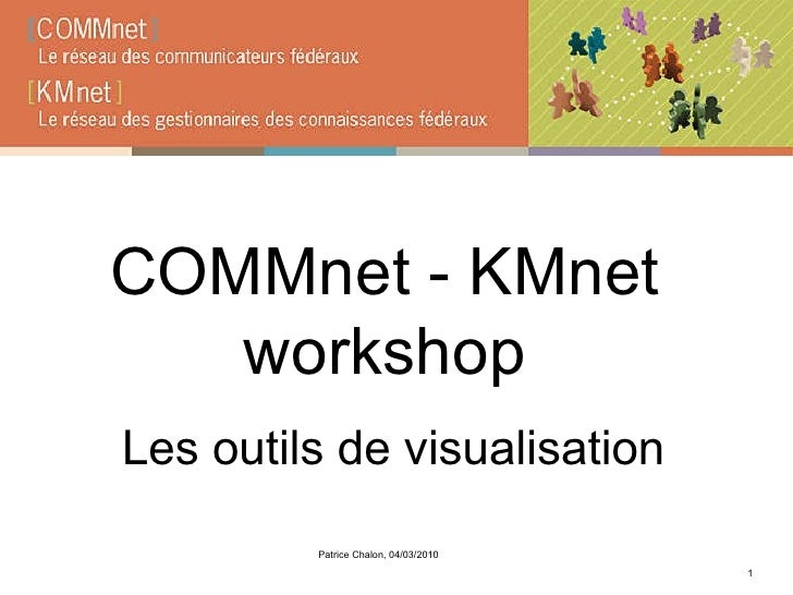 COMMnet - KMnet workshop Les outils de visualisation Patrice Chalon, 04/03/2010