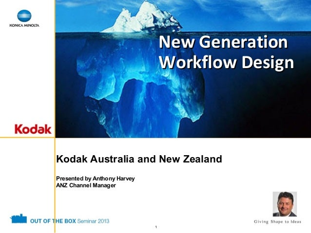 New Generation Workflow Design  Kodak Australia and New Zealand Presented by Anthony Harvey ANZ Channel Manager  1