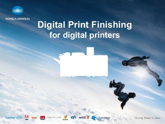 Digital Print Finishing for digital printers