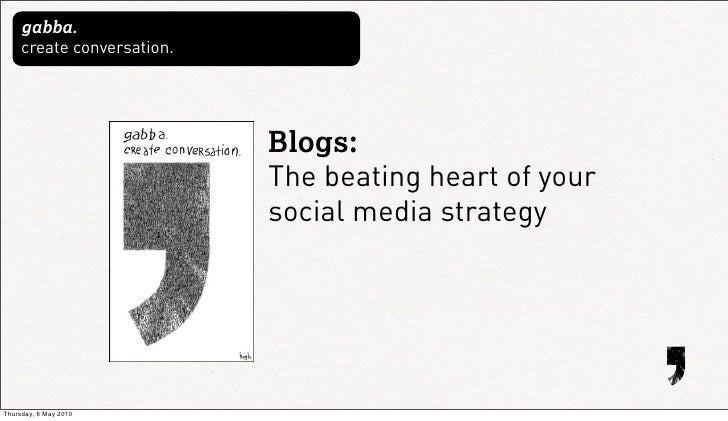 gabba.      create conversation.                                 Blogs:                             The beating heart of y...