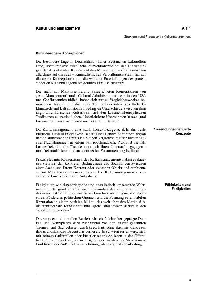 Kultur und Management                                                                        A 1.1                        ...