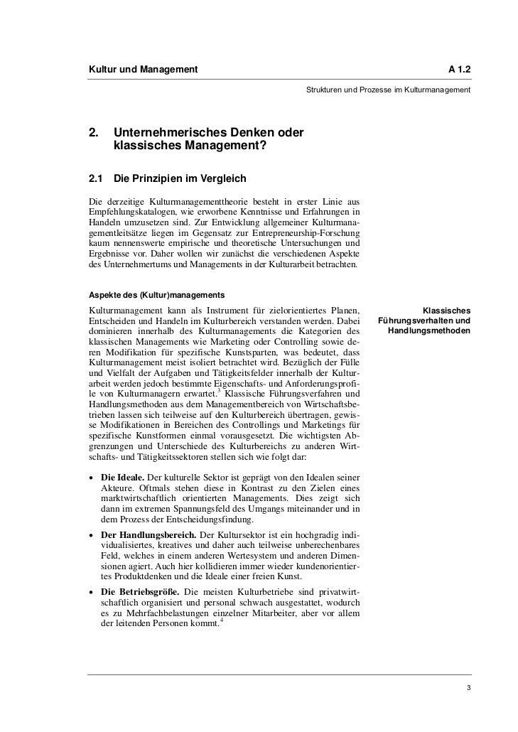Kultur und Management                                                                        A 1.2                        ...