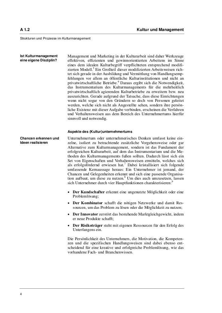 A 1.2                                                                 Kultur und ManagementStrukturen und Prozesse im Kult...