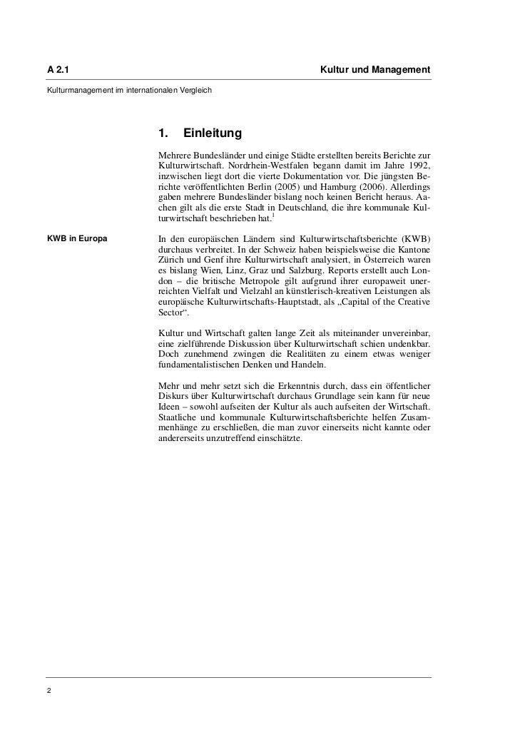 A 2.1                                                                   Kultur und ManagementKulturmanagement im internati...