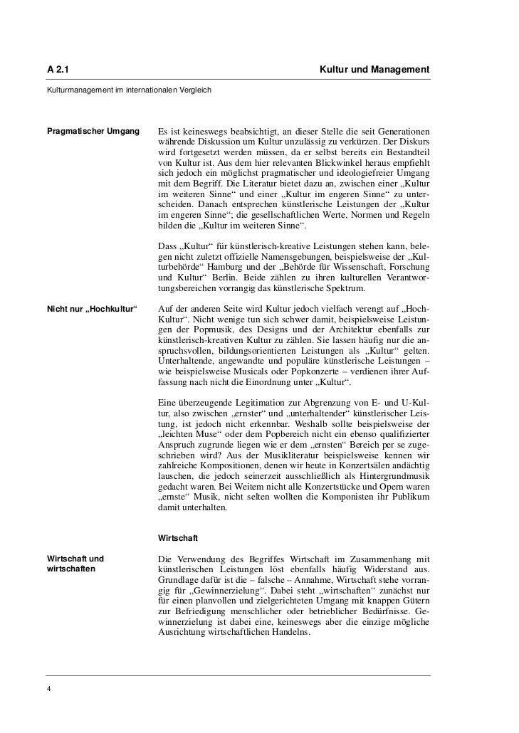 A 2.1                                                                  Kultur und ManagementKulturmanagement im internatio...