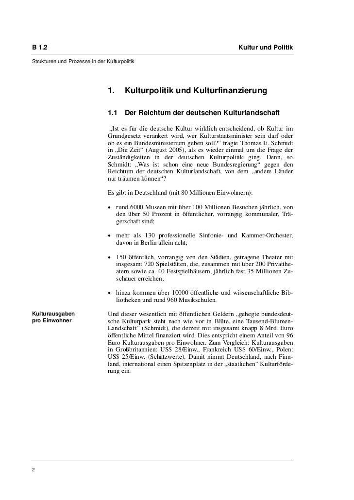 Prof. Ellen Lissek-Schütz: Kulturpolitik in Deutschland seit der Wiedervereinigung. Bilanz und Perspektiven Slide 2