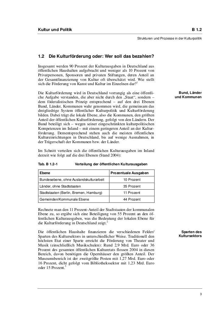 Prof. Ellen Lissek-Schütz: Kulturpolitik in Deutschland seit der Wiedervereinigung. Bilanz und Perspektiven Slide 3