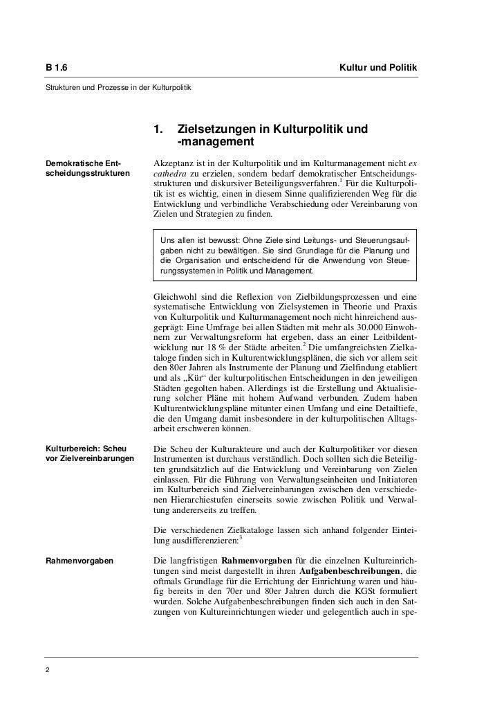 B 1.6                                                                             Kultur und PolitikStrukturen und Prozess...