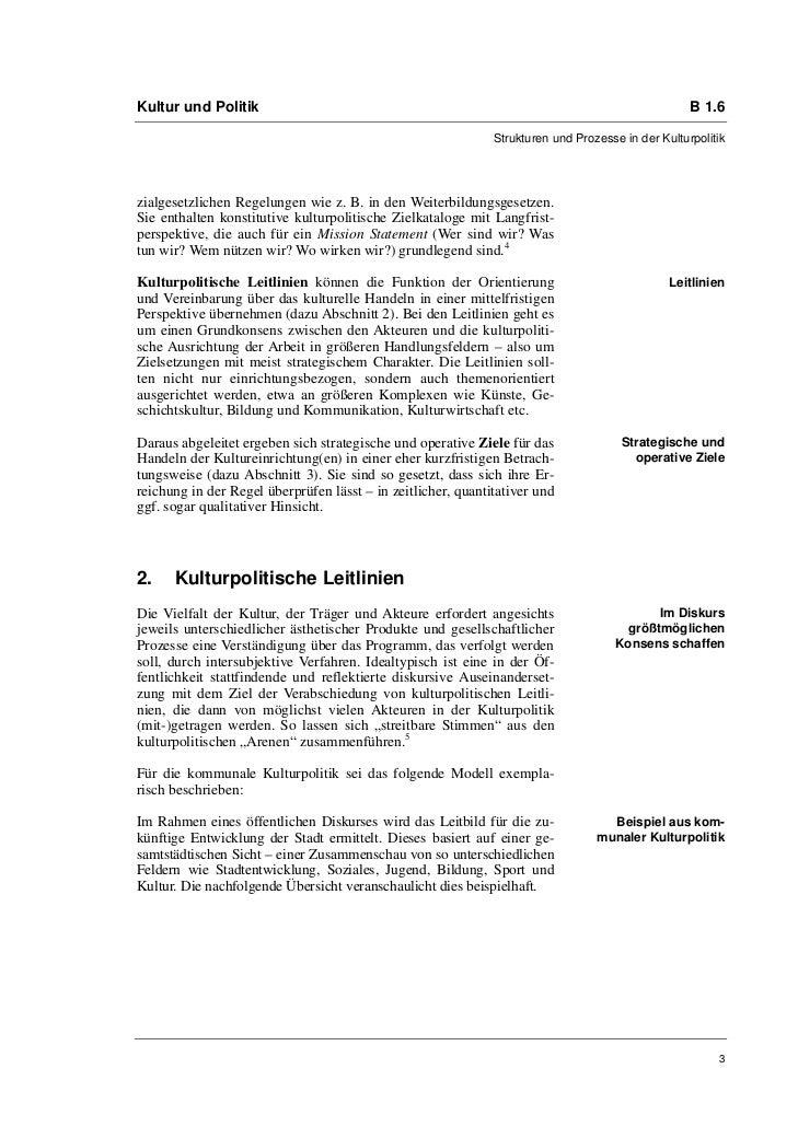 Kultur und Politik                                                                                 B 1.6                  ...