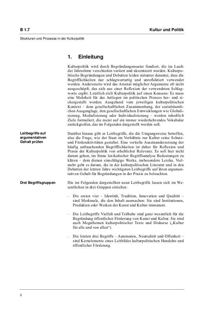 Prof. Dr. Oliver Scheytt: Kulturpolitische Leitbegriffe  Slide 2