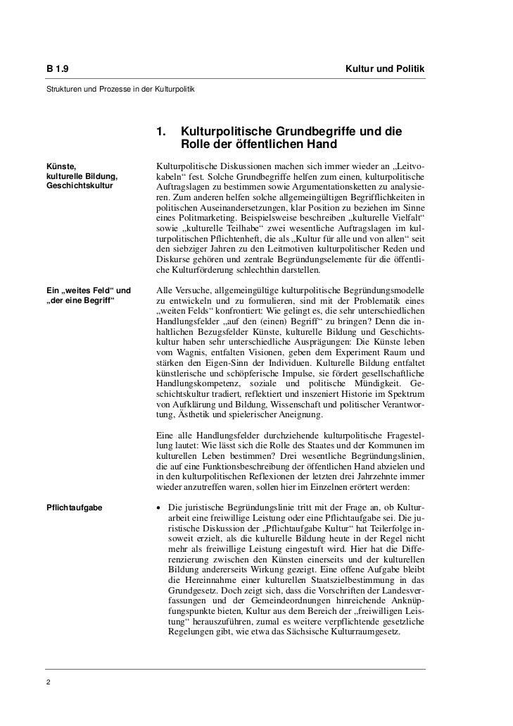 B 1.9                                                                               Kultur und PolitikStrukturen und Proze...