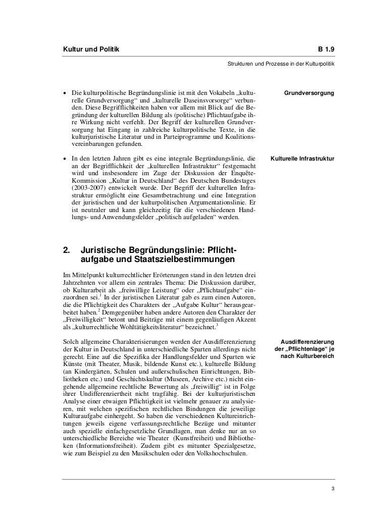Kultur und Politik                                                                               B 1.9                    ...