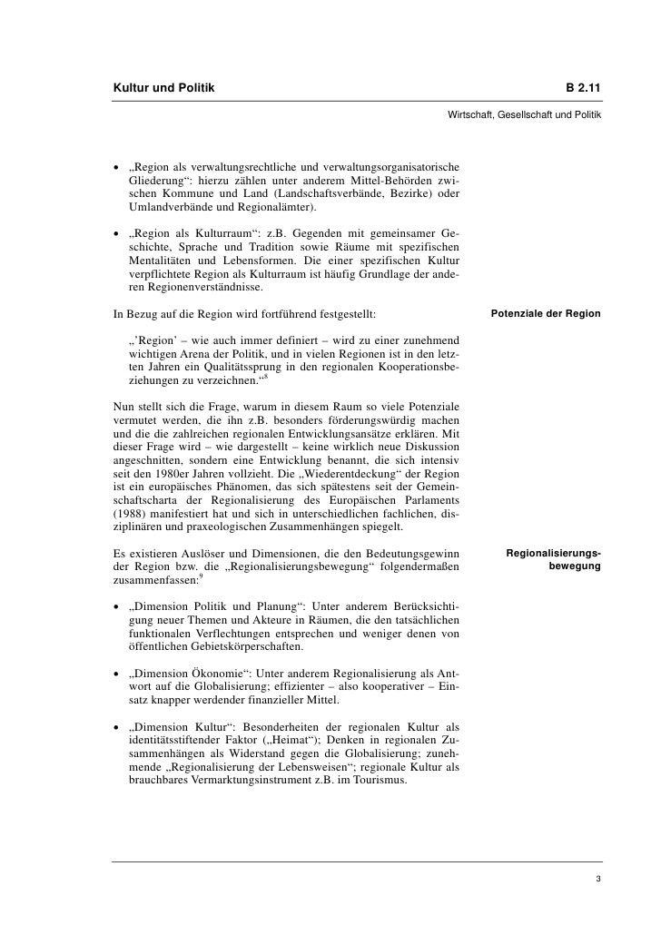 Kultur und Politik                                                                             B 2.11                     ...