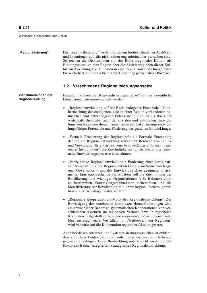 B 2.11                                                                               Kultur und PolitikWirtschaft, Gesells...