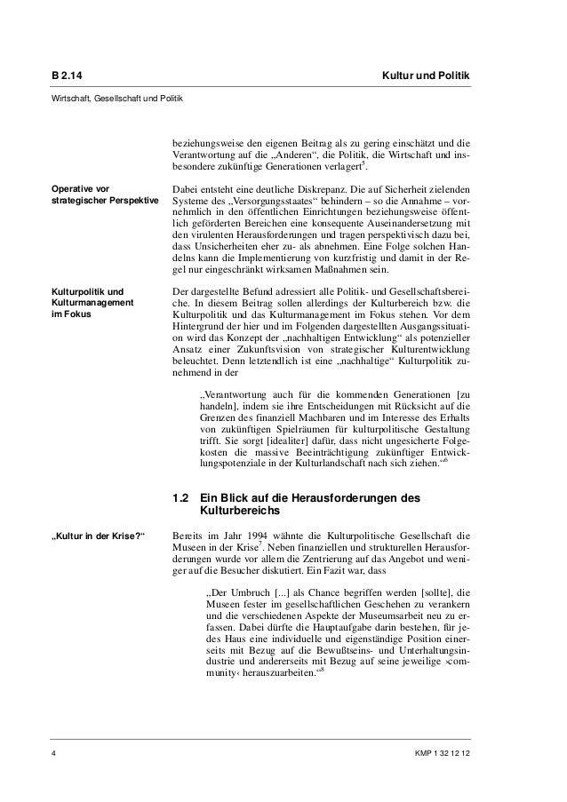 B 2.14                                                                              Kultur und PolitikWirtschaft, Gesellsc...