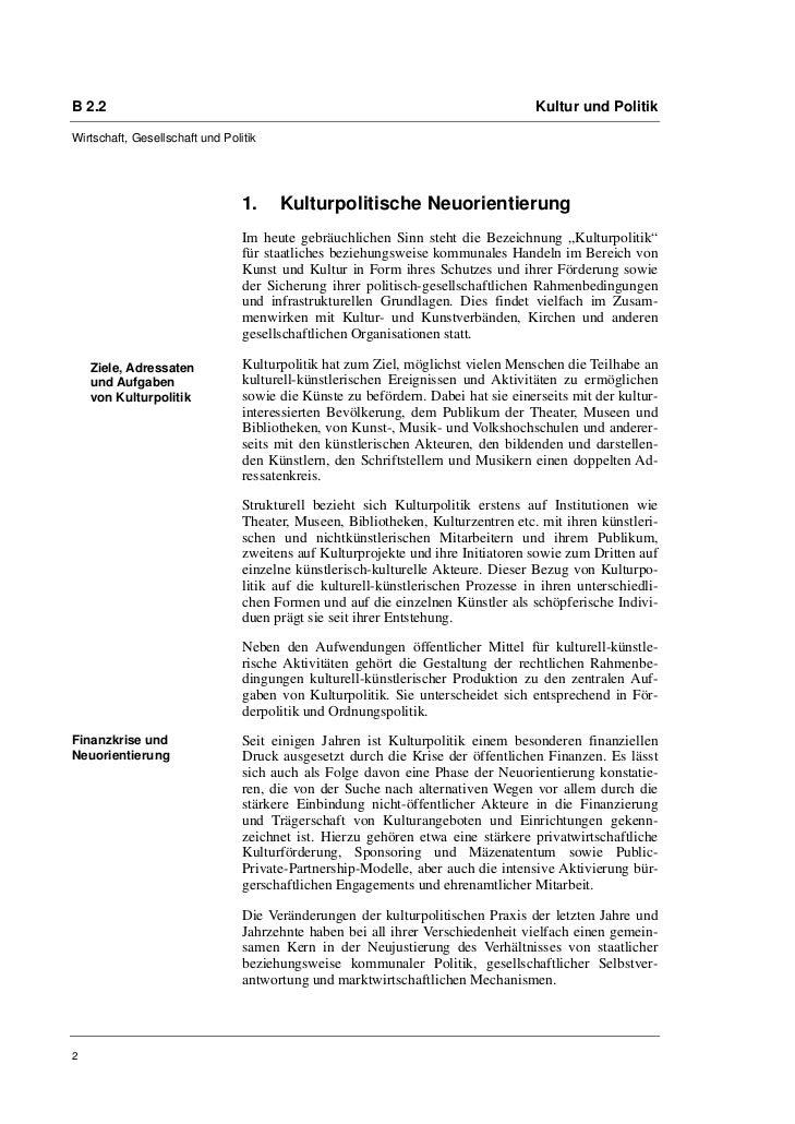 Bernd Wagner: Kulturpolitik im Zusammenwirken von Staat, Markt und Gesellschaft Slide 2