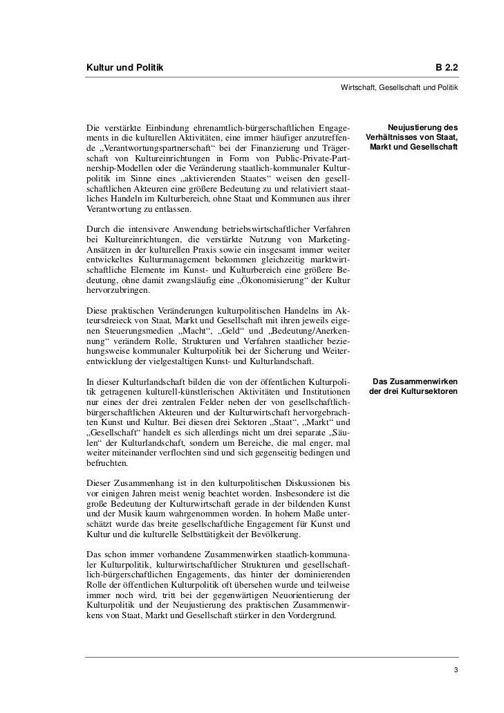 Bernd Wagner: Kulturpolitik im Zusammenwirken von Staat, Markt und Gesellschaft Slide 3