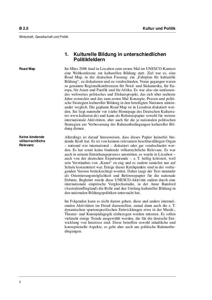B 2.5                                                                              Kultur und PolitikWirtschaft, Gesellsch...