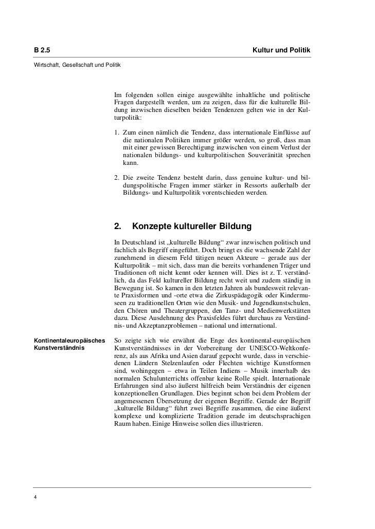 B 2.5                                                                             Kultur und PolitikWirtschaft, Gesellscha...